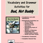 Bud Not Buddy Grammar and Vocabulary Activity Pack