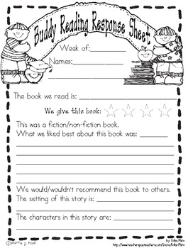 Buddy Reading Response Form