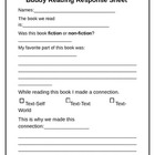 Buddy Reading Response Sheet