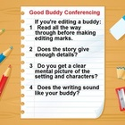 Buddy Writing Conference Rules Poster for the Editor