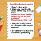 Buddy Writing Conference Rules Poster for the Writer