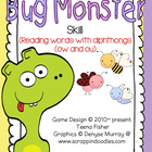 Bug Monster Literacy Center Treasures Reading Diphthongs ow/ou