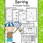 Bug Themed Math & Literacy Printable Packet