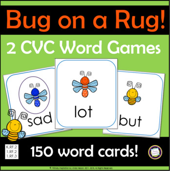 Bug on a Rug Short Vowel CVC Games