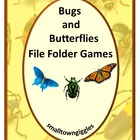 Bugs and Butterflies Printable File Folder Games PK-K,Spec
