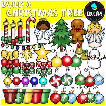 Build A Christmas Tree Clip Art Bundle