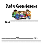 """Build-A-Green-Sentence"" Earth Day Pocket Chart Center"