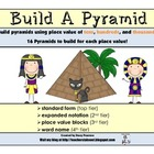 Build A Pyramid -Place Value 10's 100's 1000's