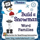 Build A Snowman- Word Families