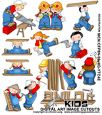Build It Kids Clipart