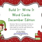 Build It-Write It Word Cards: December Edition
