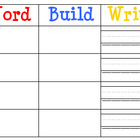 Build & Write a Word