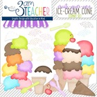 Build-Your-Own Ice Cream Cones: Digital Clipart Set