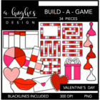 Build-a-Game: Valentine's Day {Graphics for Commercial Use}