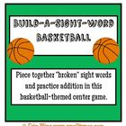 Build-a-Sight-Word Basketball