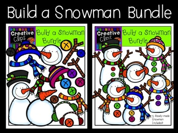Build a Snowman Bundle {Creative Clips Digital Clipart}
