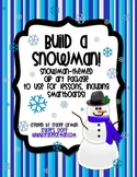Build a Snowman Clip Art for Commercial Use