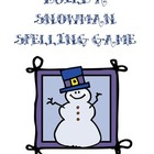 Build a Snowman Spelling Game