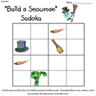 Build a Snowman Sudoku (Primary Winter Sudoku Puzzle)