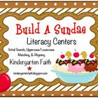 Build a Sundae, Literacy Centers