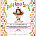 Build a Sundae Survey Freebie - A Great Year End Activity