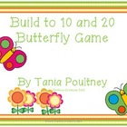 Build to ten and twenty addition- Build a Butterfly game