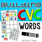 Building CVC Words {Magnetic Letter Center}