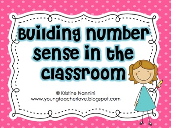 Building Number Sense Freebie!