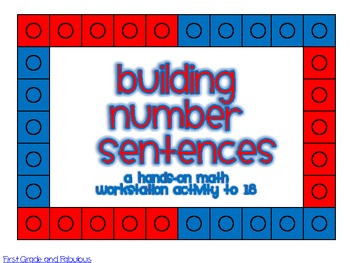Building Number Sentences--Common Core First Grade 1.OA.6