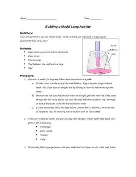 Building a Model Lung Lab