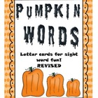 Building sight words with pumpkins