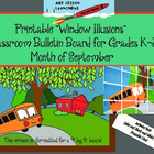 "Bulletin Board: A Printable ""Window Illusion"" for Septembe"