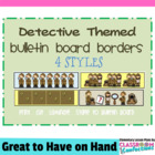 Bulletin Board Border - Detective Theme