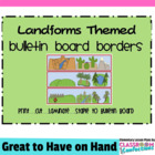 Bulletin Board Border - Land form Theme