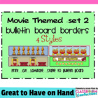 Bulletin Board Border - Movie Theme