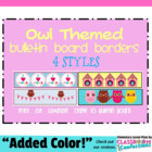 Bulletin Board Border - Owl Theme