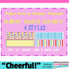 Bulletin Board Border ~ Polka Dots and Stripes Theme