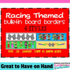 Bulletin Board Border - Racing Theme
