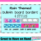 Bulletin Board Border - Rain Theme