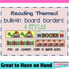 Bulletin Board Border - Reading Theme