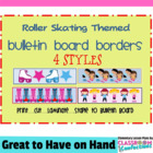 Bulletin Board Border - Roller Skating Theme