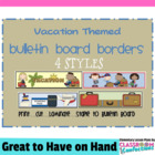 Bulletin Board Border - Vacation Theme