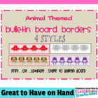 Bulletin Board Borders - Animal Theme