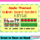 Bulletin Board Borders - Apple Theme