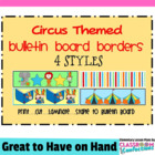 Bulletin Board Borders - Circus Theme