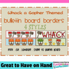 Bulletin Board Borders - Gopher Theme