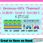 Bulletin Board Borders -Groovy - 60's Theme