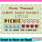 Bulletin Board Borders - Picnic Theme