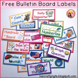 Bulletin Board Labels