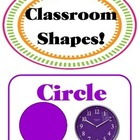 Artsy Teacher Cafe - SHAPES Set/9 *Multi-colors* POSTERS *